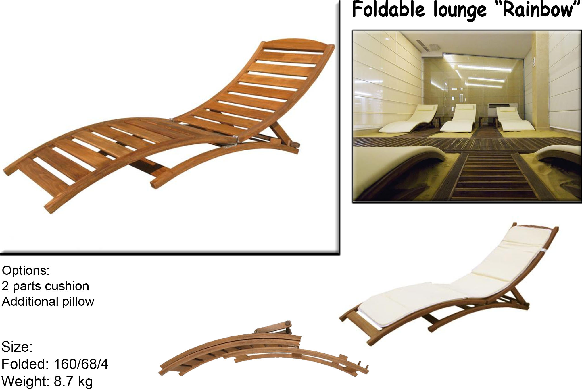 Foldable Lounge Rainbow