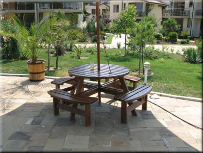 Table With Benches Set Familia Sm]